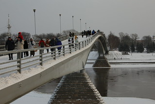 Pedestrian bridge across the Volkhov River