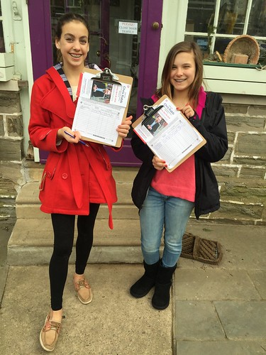 Girls collect ballot signatures but are not registered to vote