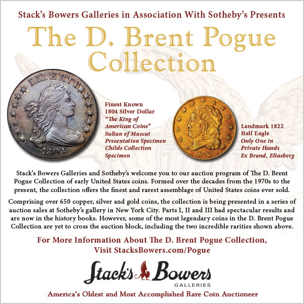 Stacks-Bowers E-Sylum ad 2016-02-14 Pogue