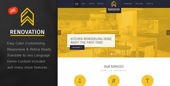 Renovation v2.8 – Construction Company Theme
