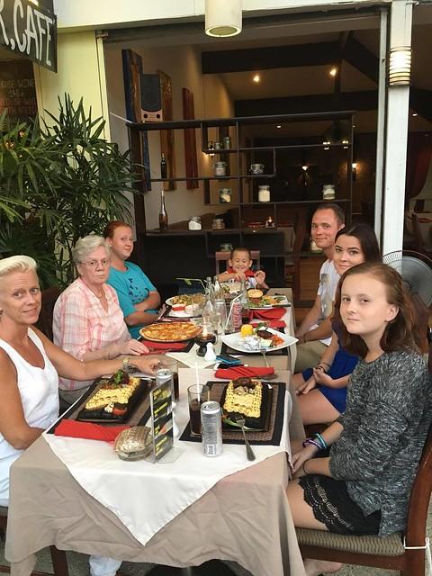Birthday dinner at Mamma Mia