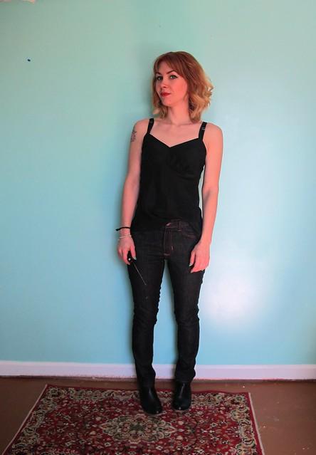 Ginger Jeans + Silk Tank