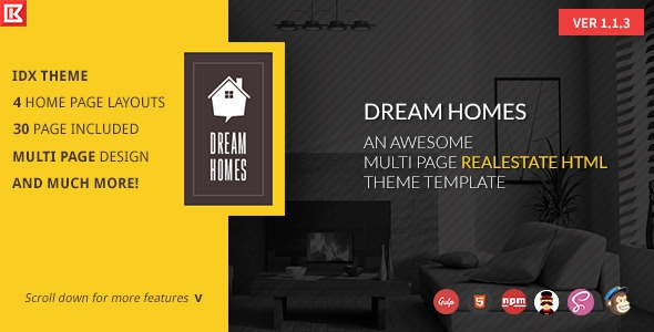 Dream Home v1.1.3 - Multipage Realestate HTML Template