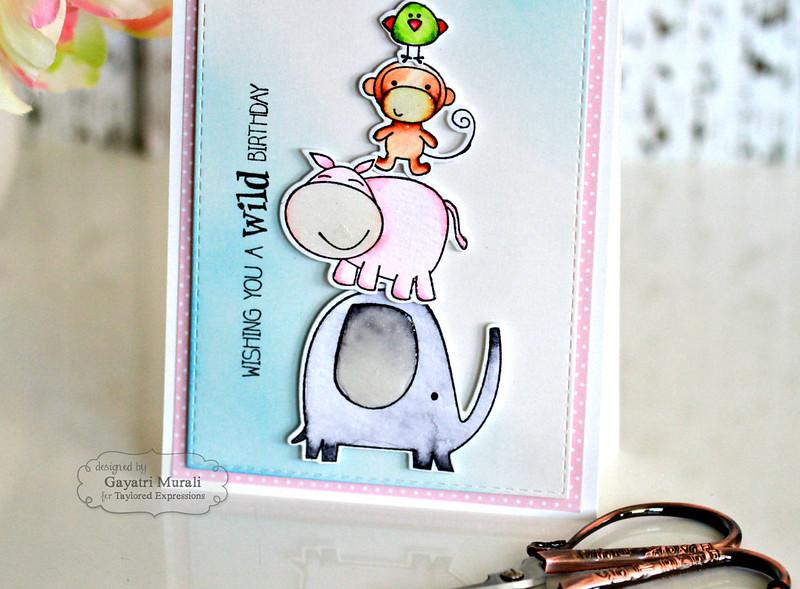 Wild Birthday card closeup
