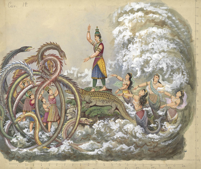 Carlotta Bonnecaze - Varuna - God of the Ocean , float design from Krewe of Proteus Parade, 1889