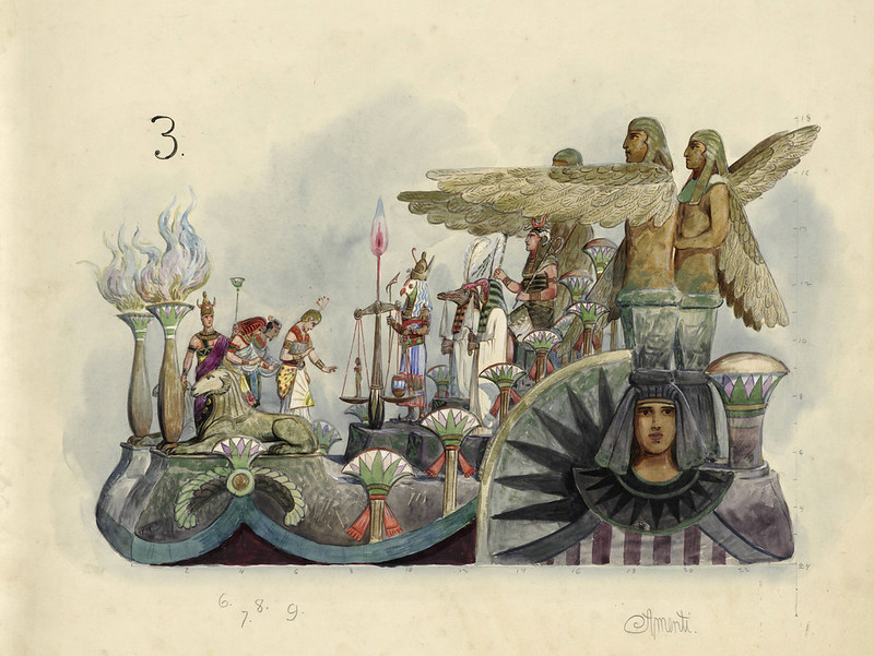 Bror Anders Wikstrom - Amenti, float design from Krewe of Proteus, 1903