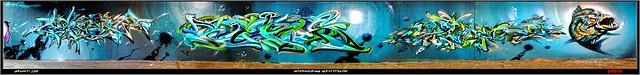 Artists: Core, Reks, Wuam -  KDS Crew - Complete wall