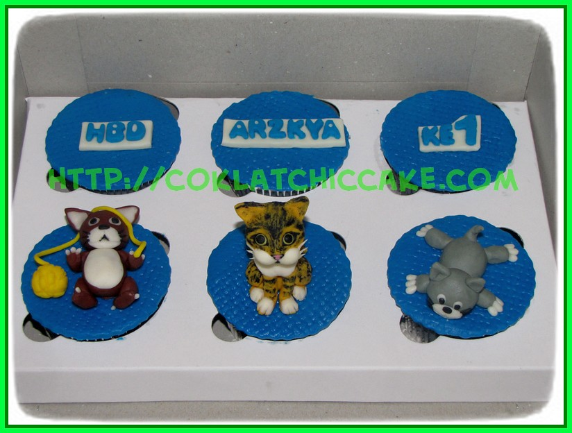 Cupcake set kucing