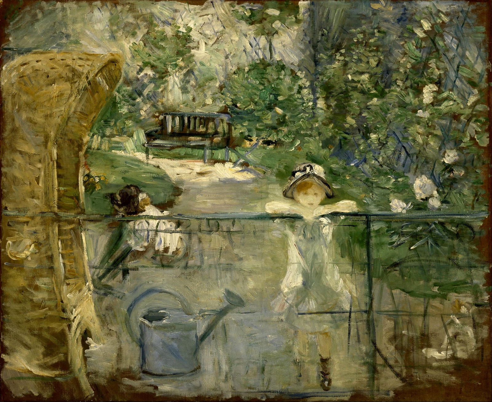 The Basket Chair by Berthe Morisot, 1882