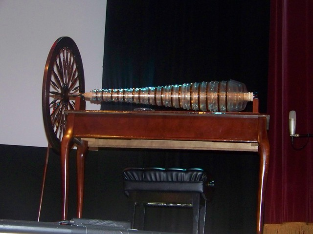 A modern glass harmonica built on Benjamin Franklin's design