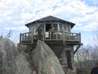 Fire Lookout tower at the summit of Mt. Cammerer