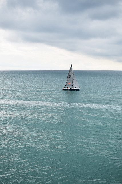 boat sailing in the english channel