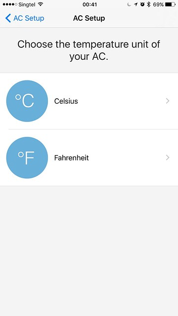 tado iOS App - AC Setup - Temperature Unit