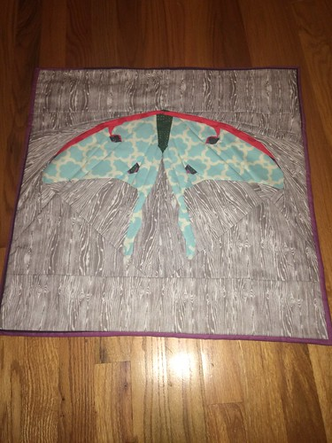 Luna moth pillow