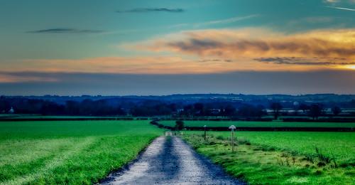 road sun green clouds sunrise landscape colours shropshire path fields 500px