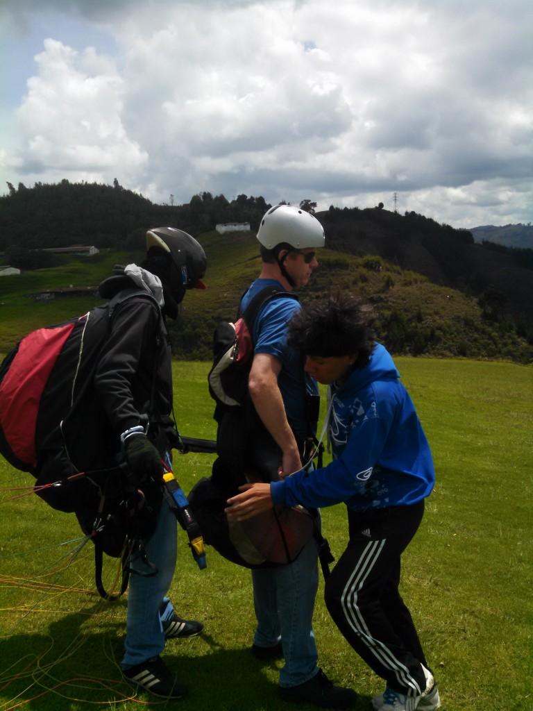 Medellin Para-gliding launch site