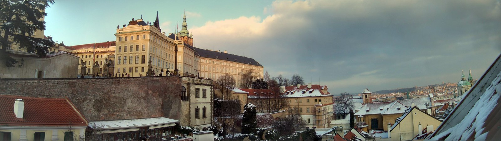 Prague in snow