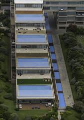 Aerial view of Acqua's Swiming Pools   160131-2657-jikatu