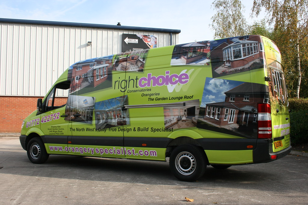 Full vehicle wrap, digitally printed graphics
