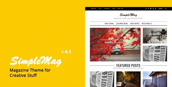 ThemeForest SimpleMag v4.1 - Magazine theme for creative stuff