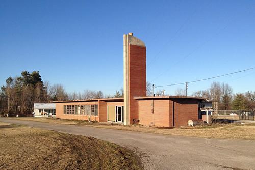 Abandoned Highway Department building