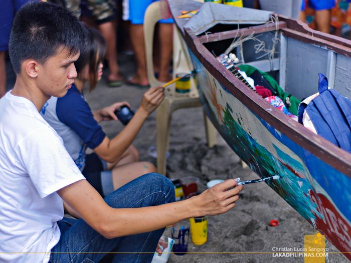 Pawikan Festival Bataan Boat Painting