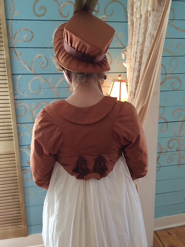 1800's Bonnet and Spencer - back