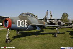 FU-36 036 - 52-7157 - Belgian Air Component - Republic F-84F Thunderstreak - Polish Aviation Musuem - Krakow, Poland - 151010 - Steven Gray - IMG_0591