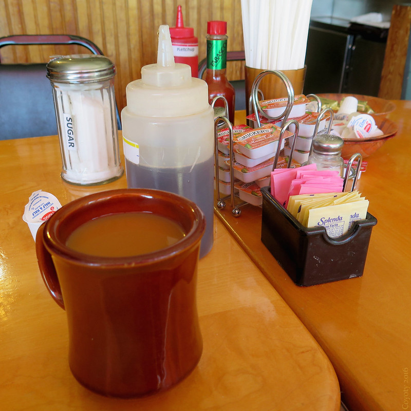 Coffee and condiments