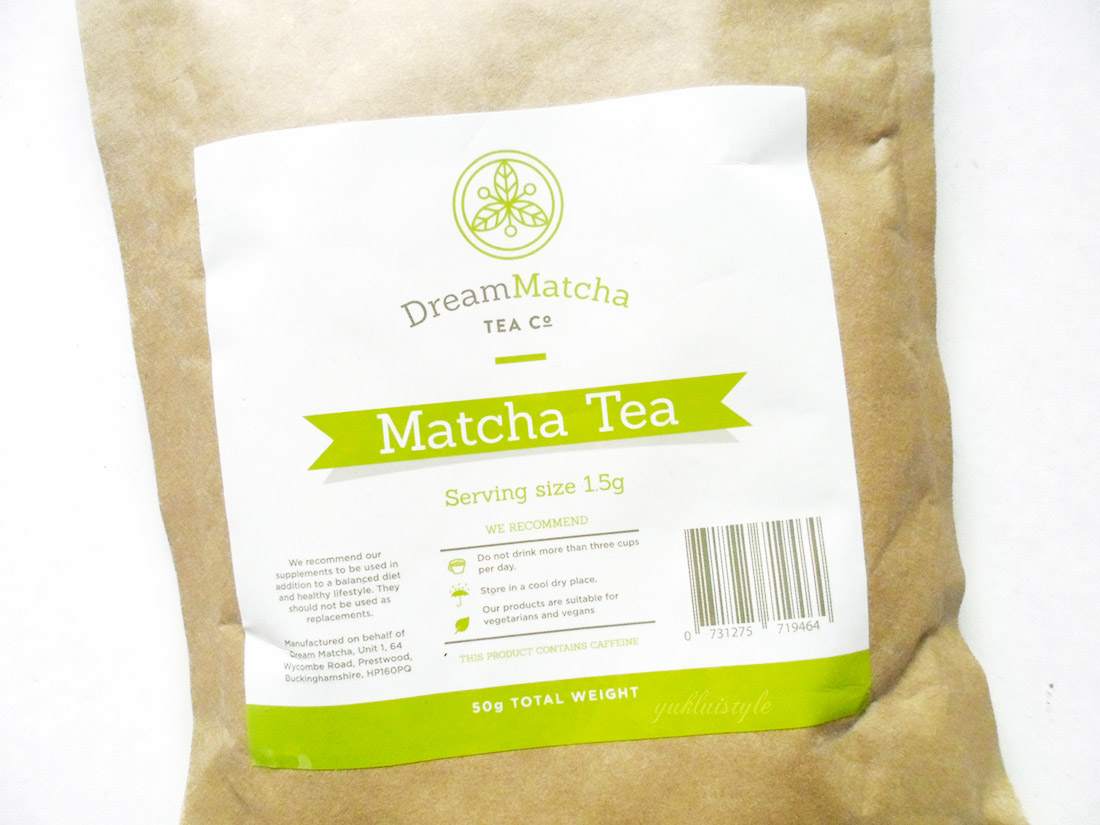 Dream Matcha Tea Co. Premium Matcha Green Tea Powder review and swatch