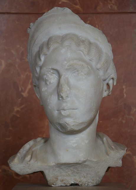 Julia Avita Mamaea, mother of Alexander Severus (died 235 AD), ca. 230 AD, Louvre Museum