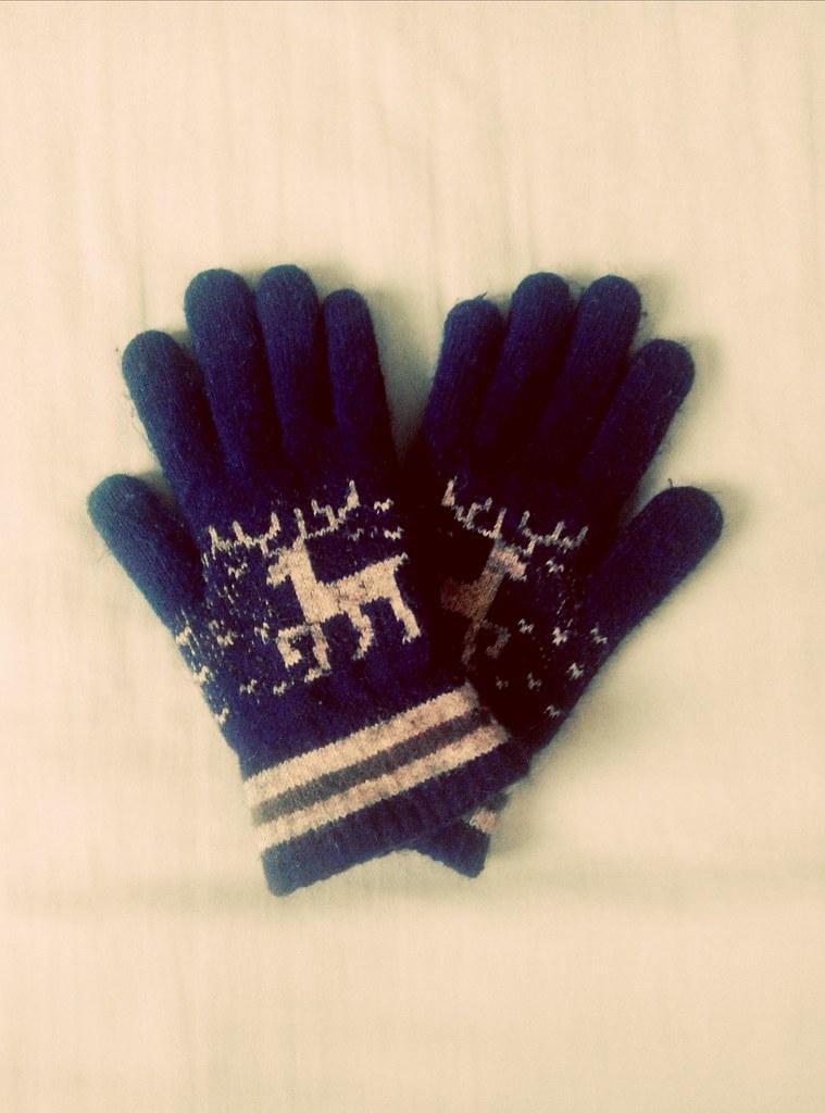 深藍糜鹿手套