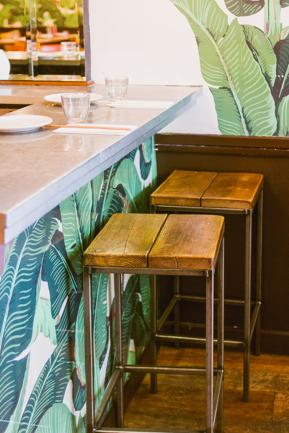 bar stools viet Grill Restaurant pho mile Vietnamese modern kingsland road london