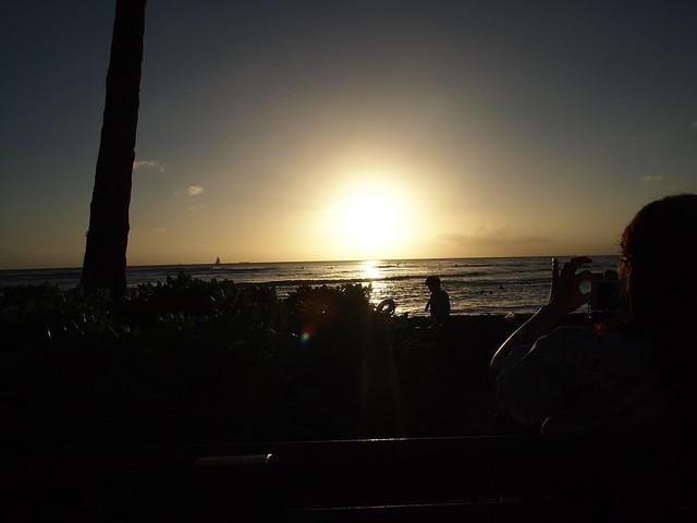 PB290631 ハワイ ワイキキビーチ サンセット hawaii waikiki beach sunset ひめごと ヒメゴト