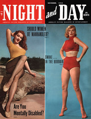 Night and Day, November 1953 - Julie Newmar and Anita Ekberg