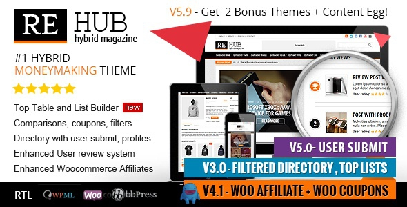 REHub v5.9.2 - Directory, Shop, Coupon, Affiliate Theme