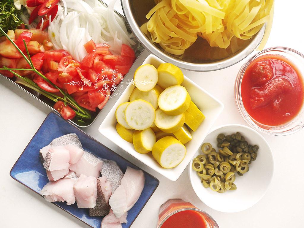 孤身廚房-寶迪鍋一鍋到底茄汁綜合貝類義大利麵佐烤天使紅蝦與櫛瓜8