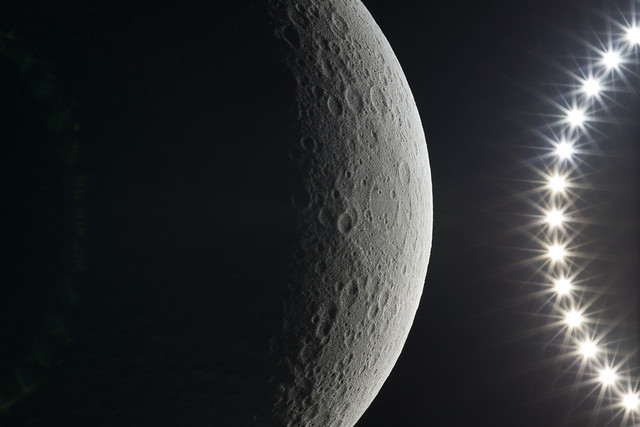 Waning Gibbous as seen from the dark side of the Moon (Far side)
