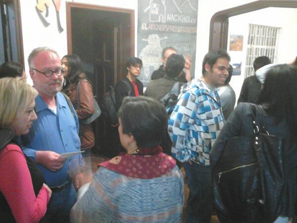 Photo:Visita Mike Goldwin en Hackbo By Fundación Karisma Colombia