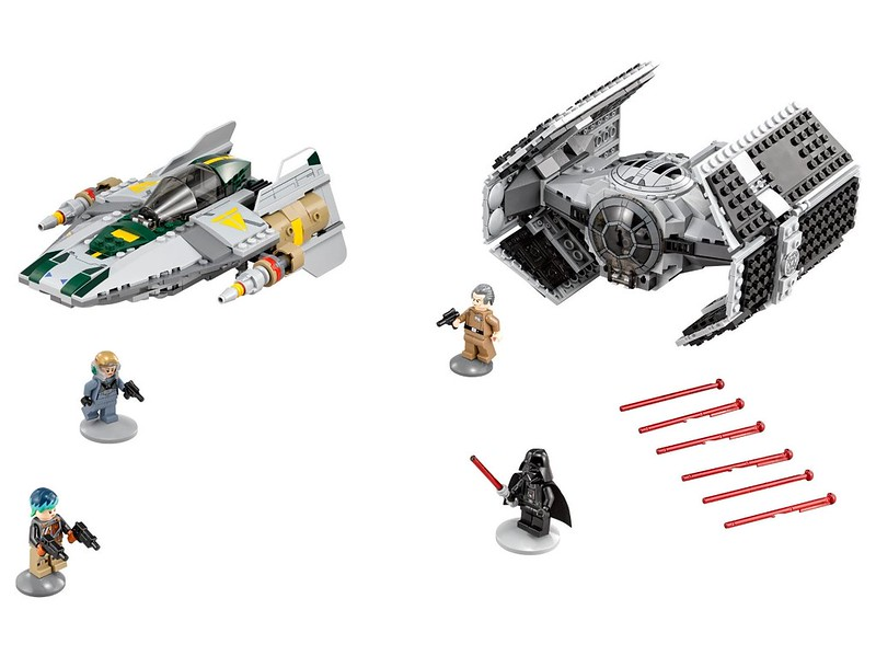 LEGO Star Wars set 2016: 75150 - Vader's TIE Advanced vs. A-Wing Starfighter