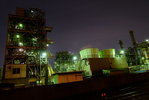 Kawasaki Factory Night scene 01