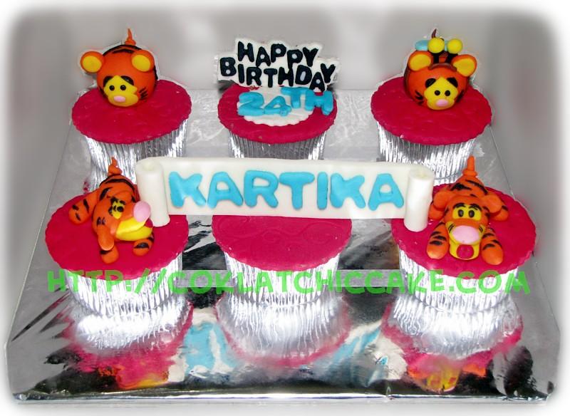 Cupcake set of 6 Tigger