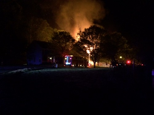 several photos from Sherbrooke Woods Lane house fire