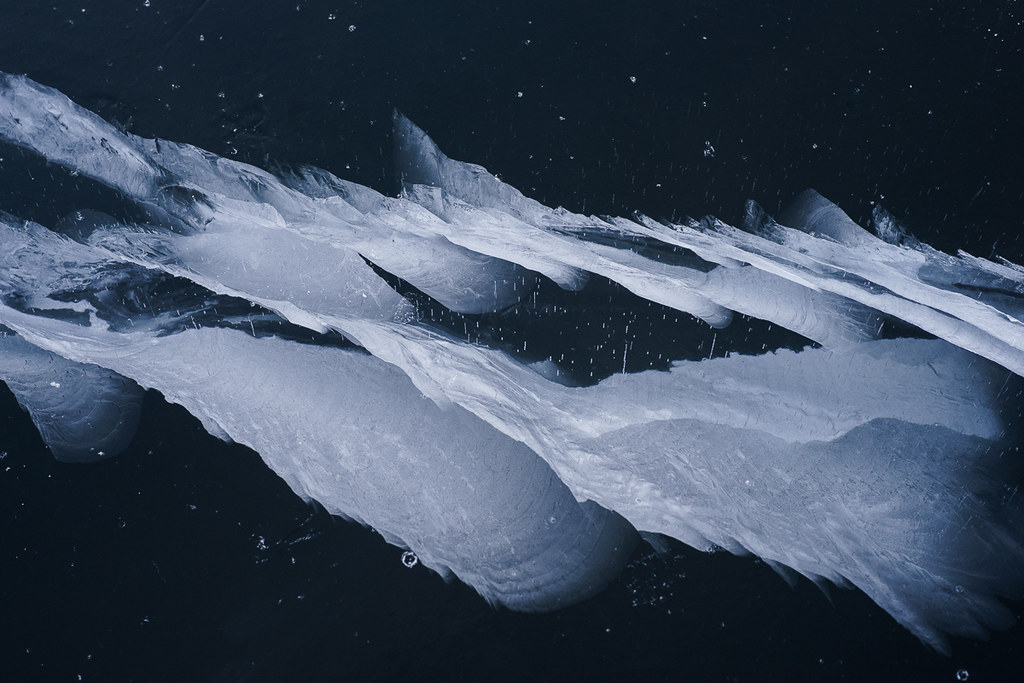 Intricate ice crack