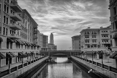Canals reminiscent of Venetian waterfront living in Pearl Qatar