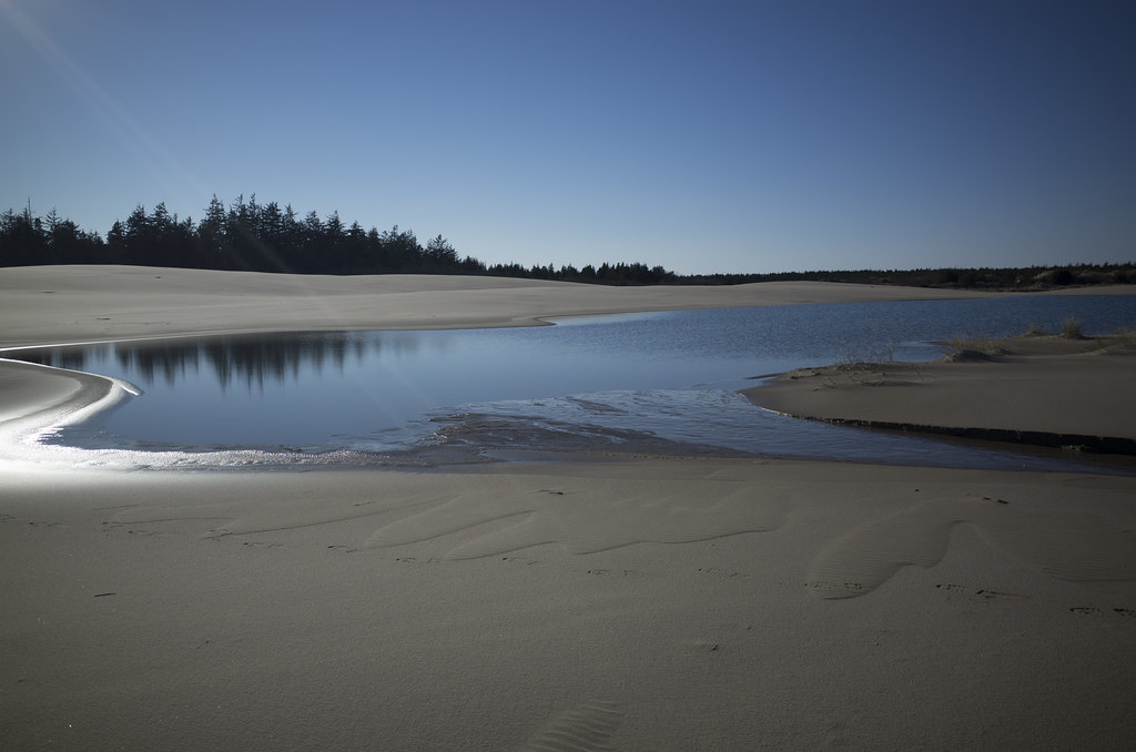 large pool on the sand dunes by eel creek