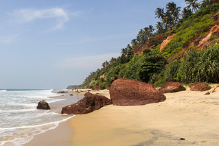 Image of Varkala South Beach. sea india beach kerala varkala arabiansea canon60d canonefs1585mmf3556isusm