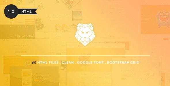ThemeForest The Lion v1.0 - Grand Multi-Purpose Bootstrap Template