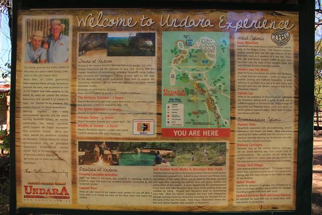 澳洲昆士蘭Undara Experience-遊程介紹看板-20141116-賴鵬智攝