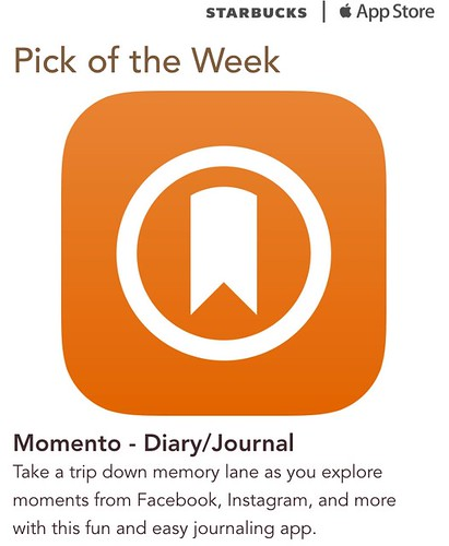 Starbucks iTunes Pick of the Week - Momento - Diary/Journal